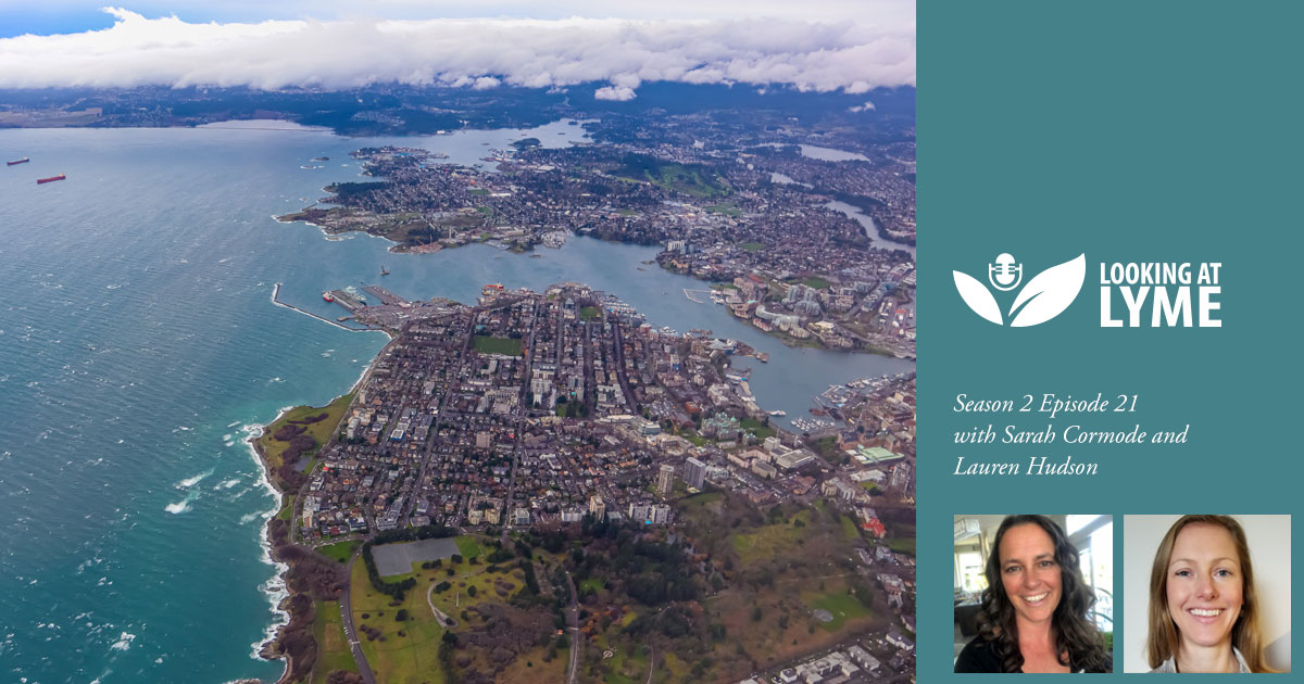 Aerial photo of Victoria and surrounding area in BC, episode 22 with Lauren Hudson.