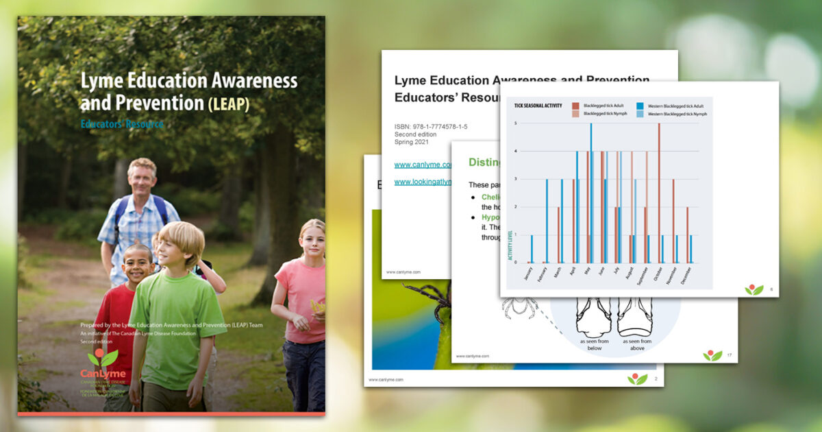 Second edition of the LEAP Educators' Resource with some slides from the slide deck splashed around.